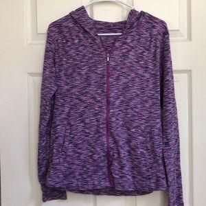 🌹Columbia Full-Zip Purple Light-Weight Sweatshirt